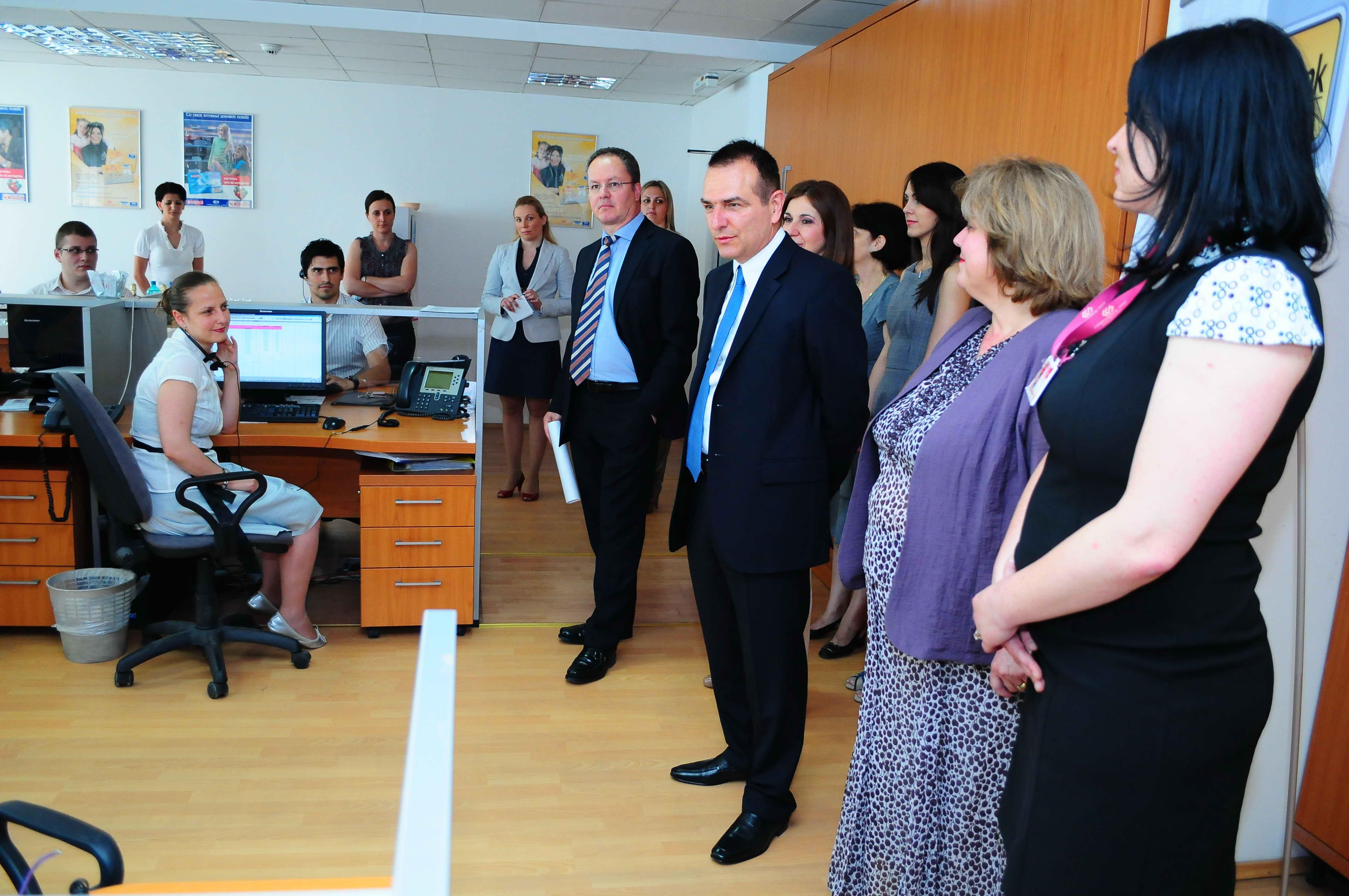 Visit the contact centre premises at stopanska banka ad skopje